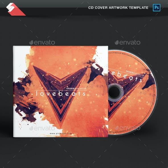 Love Beats - Creative CD Cover Artwork Template