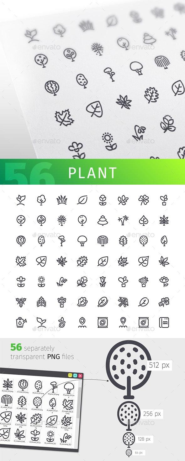Plant Line Icons Set - Seasonal Icons