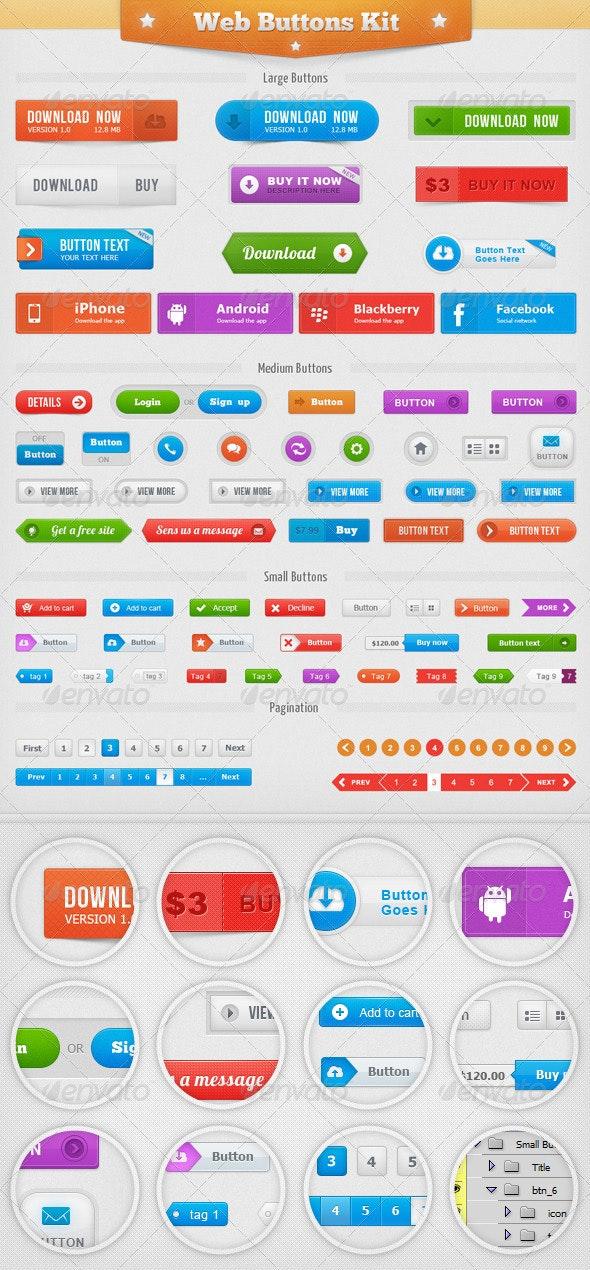 Web Buttons Kit - Buttons Web Elements