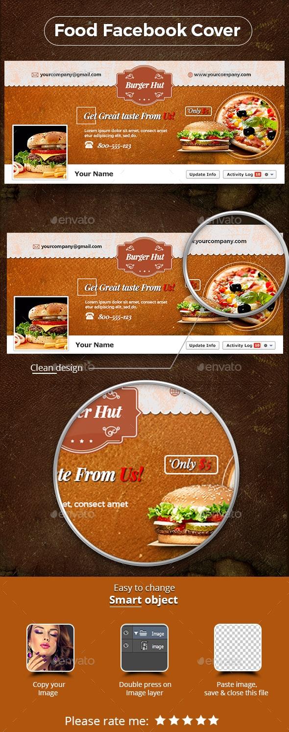 Food & Restaurant Facebook Covers - Social Media Web Elements