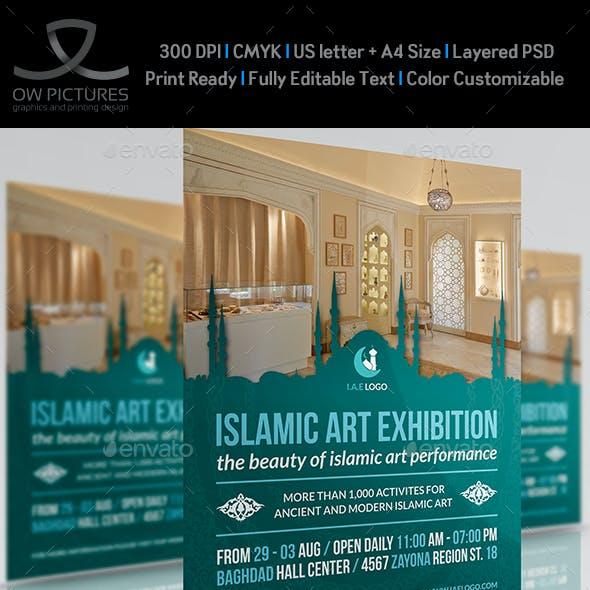 Islamic Art Exhibition Flyer Template