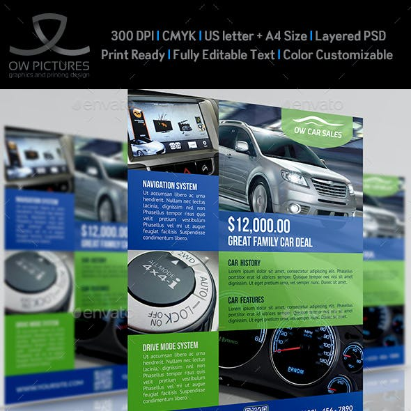 Car for Sale Flyer Template Vo.2