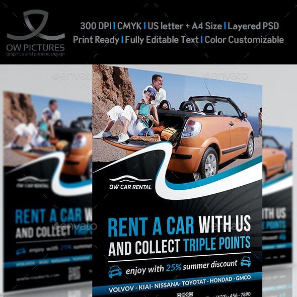 Rent a Car Flyer Template