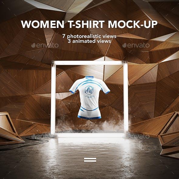 Women T-shirt Mock-up / Animated Mock-up