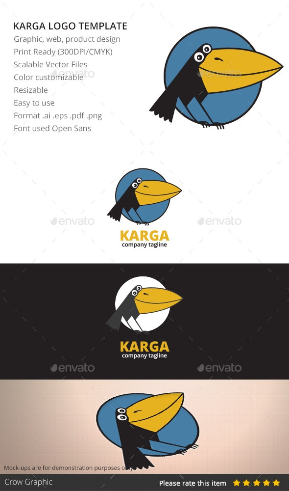 Karga - Animals Logo Templates