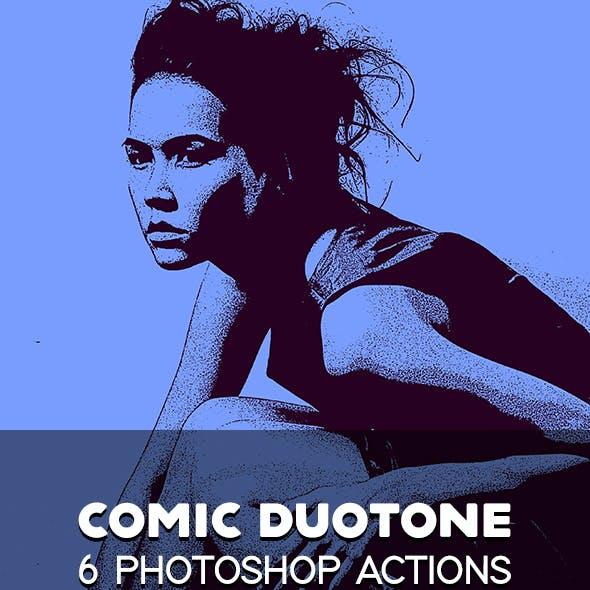 Comic Duotone 6 Photoshop Actions