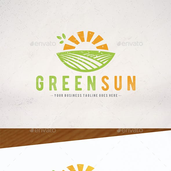 Green Sun Logo Template