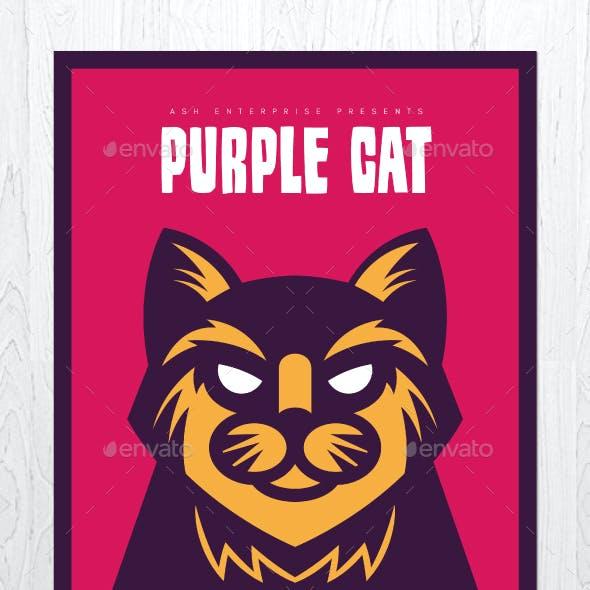 Purple Cat Flyer