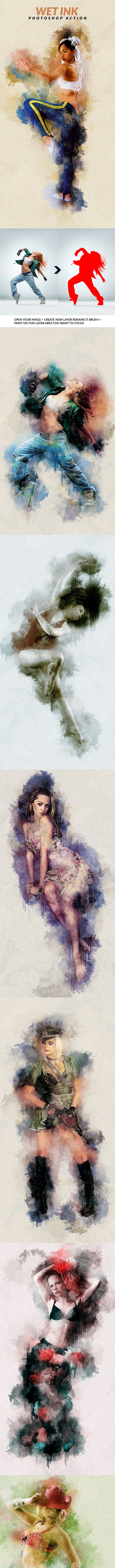 Wet Ink Photoshop Action - Photo Effects Actions