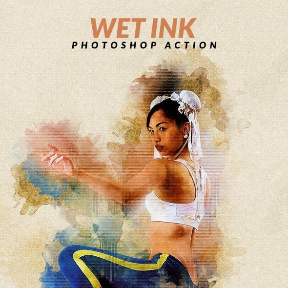 Wet Ink Photoshop Action