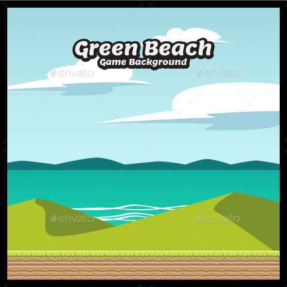 Green Beach Game Background