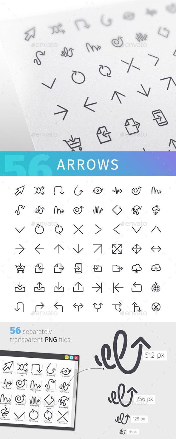 Arrow Line Icons Set