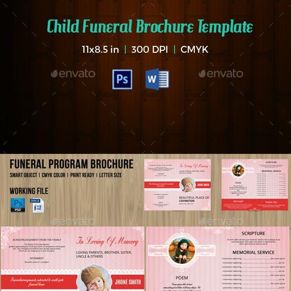 Child Funeral Program Template-V113