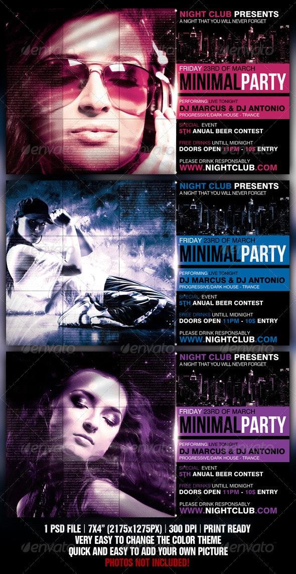 Minimal Party Flyer - Flyers Print Templates