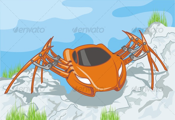 spider car - Man-made Objects Objects