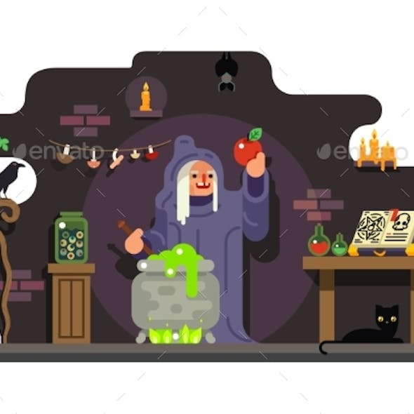 Witch Cook Magical Sweet Apple Laboratory Icons