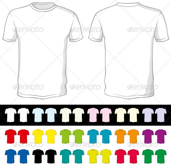 Vector Blank Shorts of a Different Color - Man-made Objects Objects