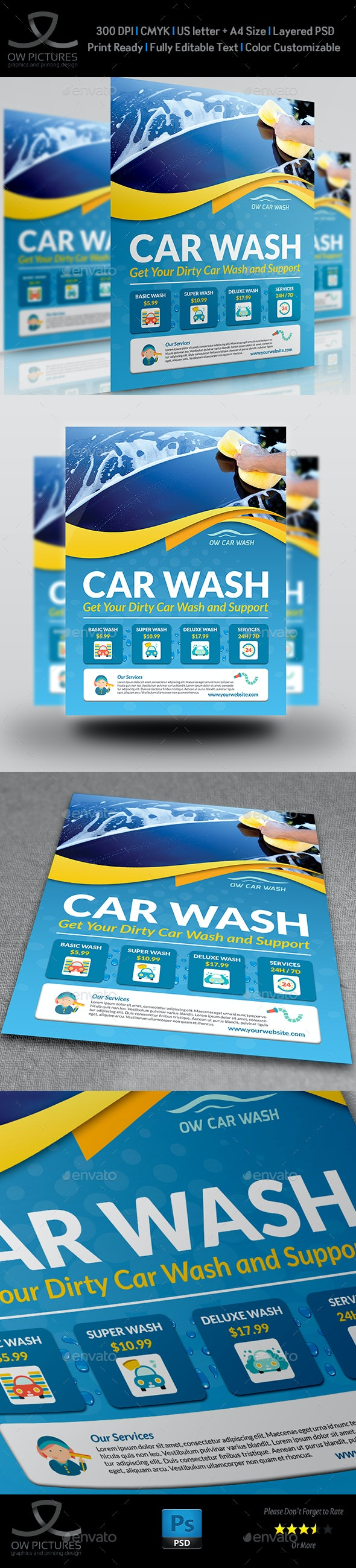 Car Wash Flyer Templates - Flyers Print Templates