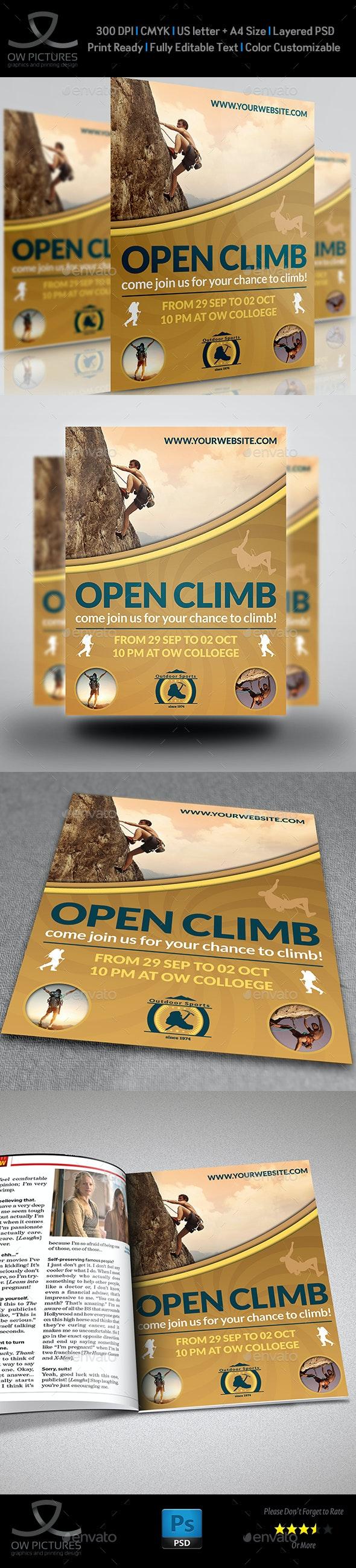 Climbing Sport Flyer Template - Sports Events