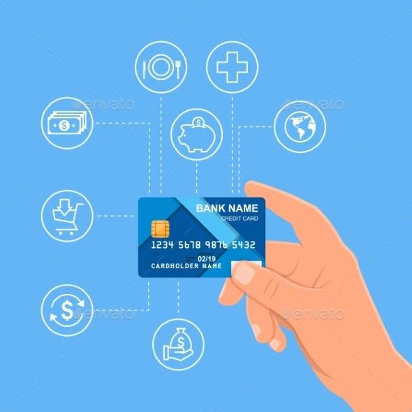 Human Hand Holding Bank Credit Card