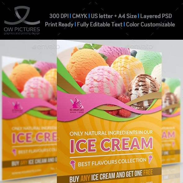 Ice Cream Flyer Template Vol.3