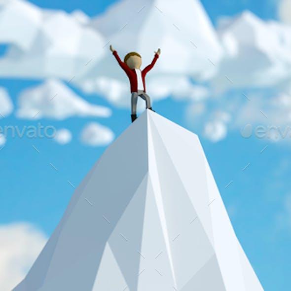 Mountain Climb Success Graphic
