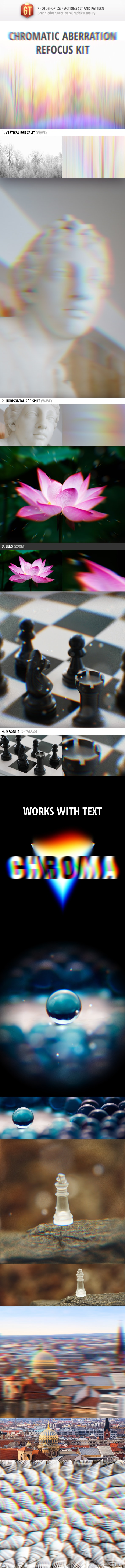 Chromatic Aberration Refocus Kit - Photo Effects Actions