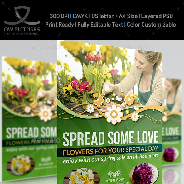 Flowers Shop Flyer Template