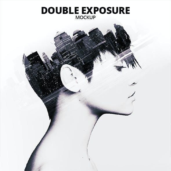 Double Exposure Photoshop Mockup