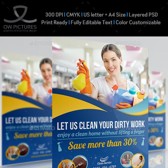 Cleaning Services Flyer Template Vol2