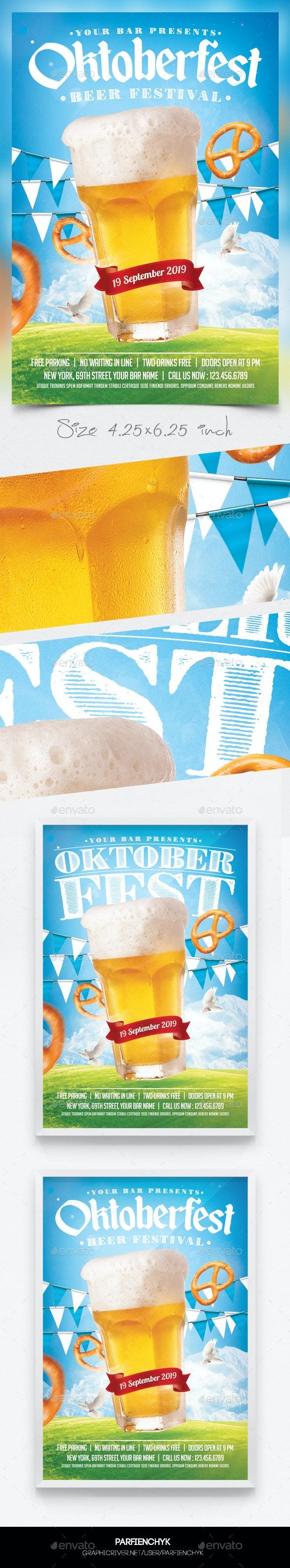 Oktoberfest Beer Flyer Template - Clubs & Parties Events