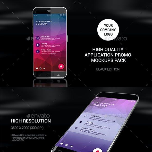 App Promo MockUps Pack (Black Edition)
