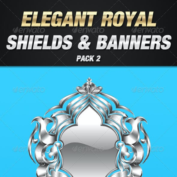 Royal Shield and Banner Pack 2