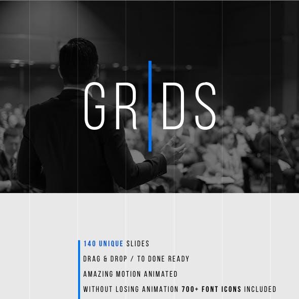 Grids-Minimal Keynote Template
