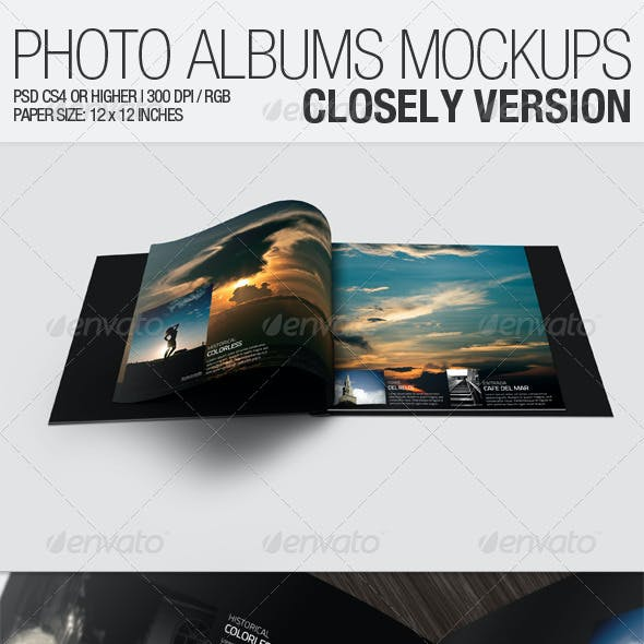 Photo Albums Mockups - Closely Version