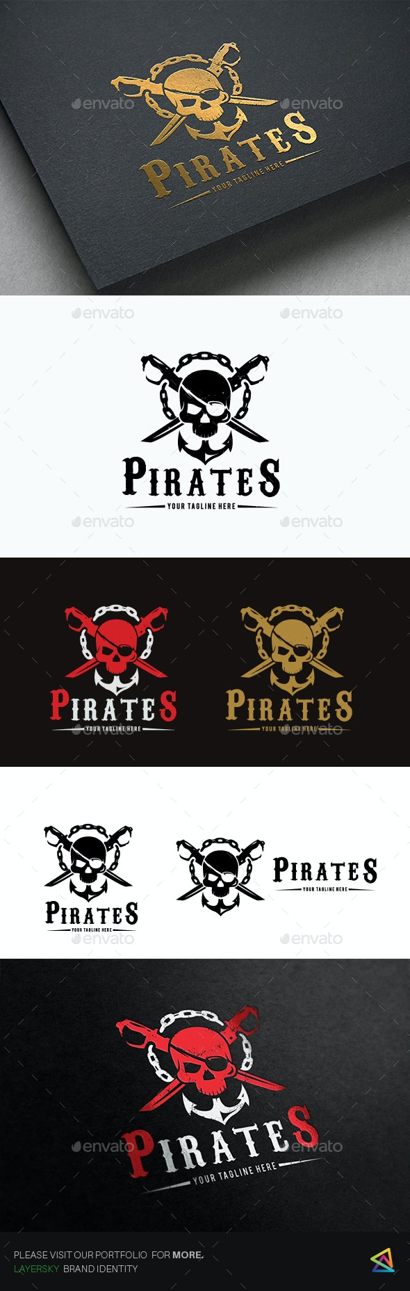 Pirates - Crests Logo Templates