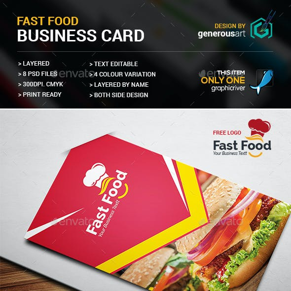Fast Food Business Card