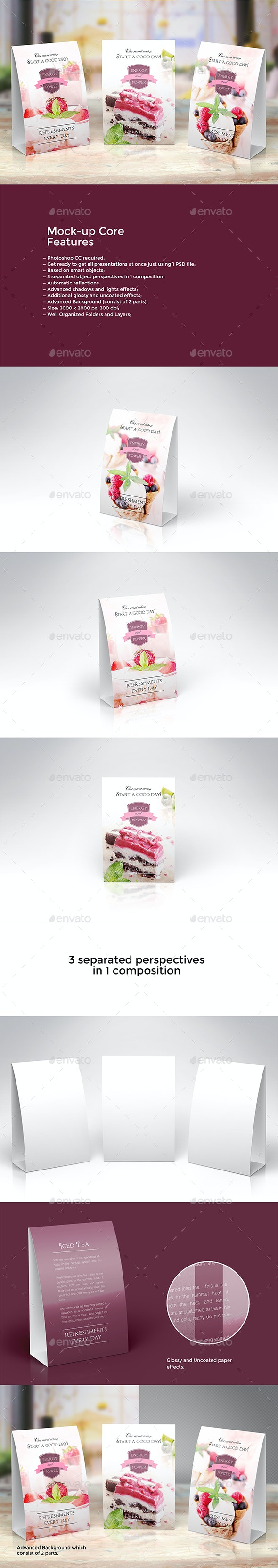 Promotional Table Talkers vol.2 - Product Mock-Ups Graphics