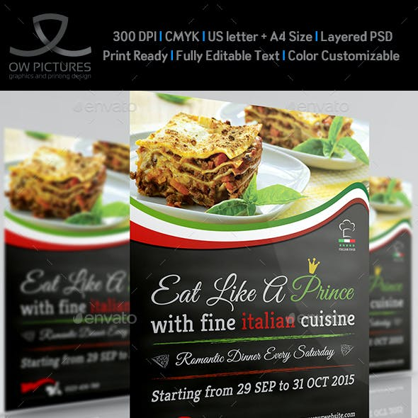 Italian Food Restaurant Flyer Vol.2