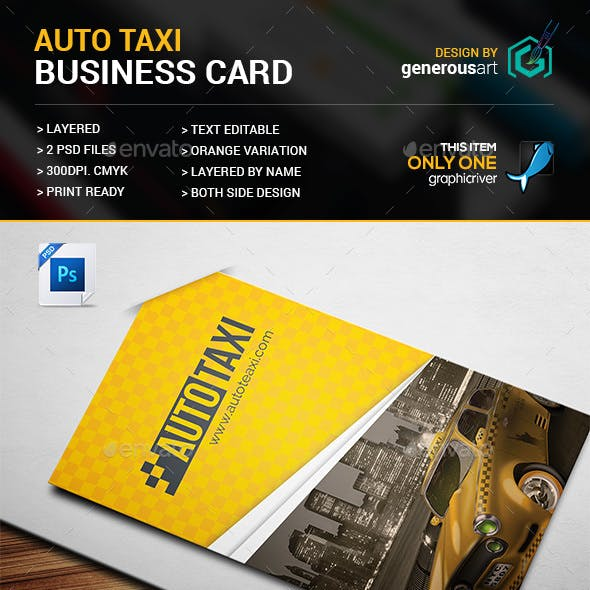 Auto Taxi Business Card