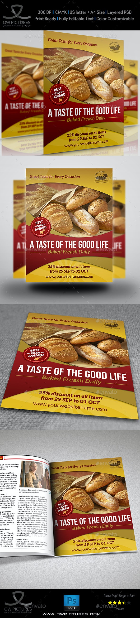 Bakery Flyer Template Vol.2 - Commerce Flyers