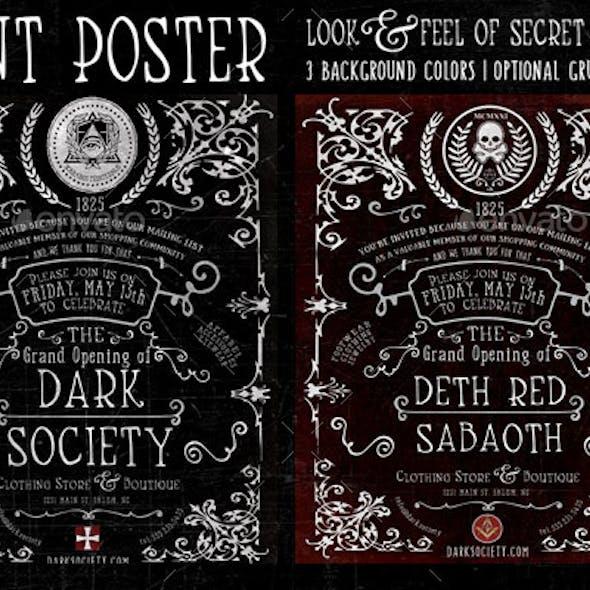 Vintage Hermetic Poster