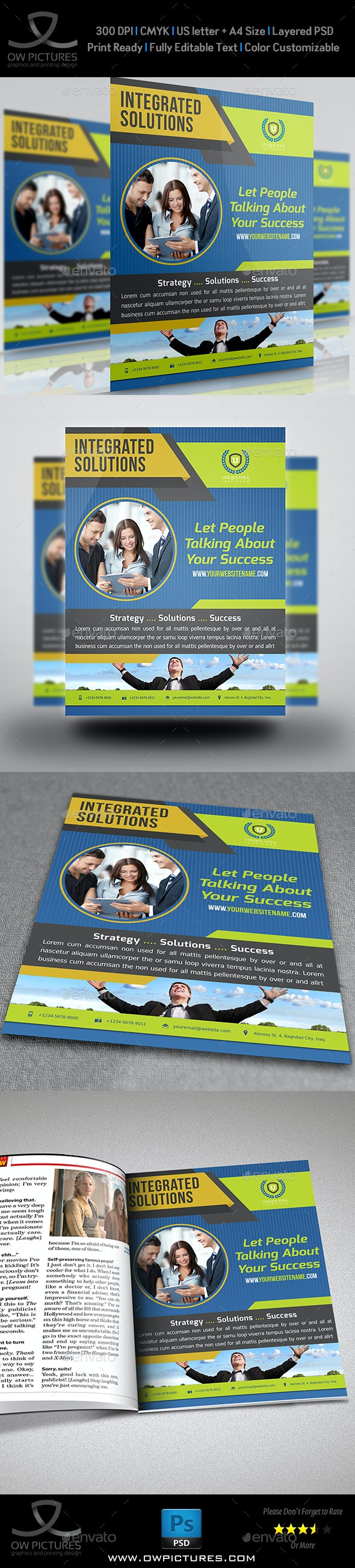 Corporate Company Flyer Template Vol.11 - Corporate Flyers