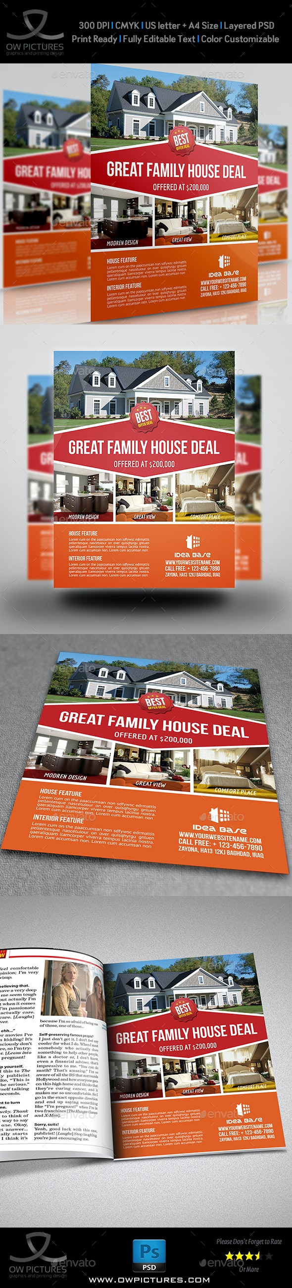 Real Estate Flyer Template Vol.11 - Commerce Flyers
