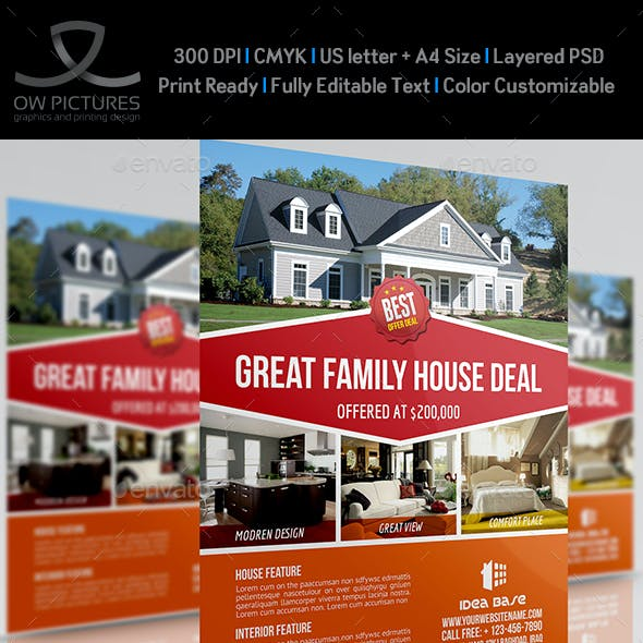 Real Estate Flyer Template Vol.11