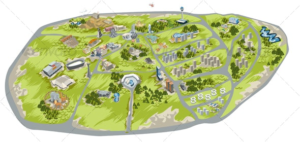 city map illustration - Concepts Business