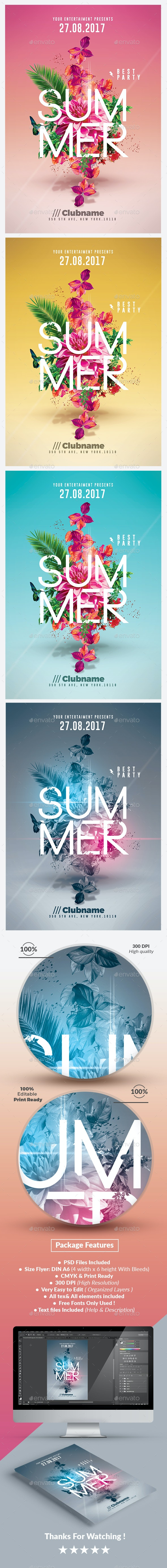 Summer Party    Psd Flyer Templates - Events Flyers