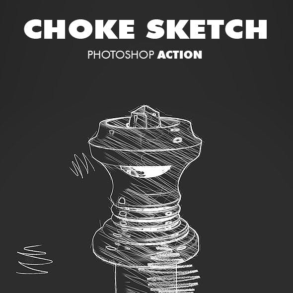 Choke Sketch V.1 - Photoshop Action