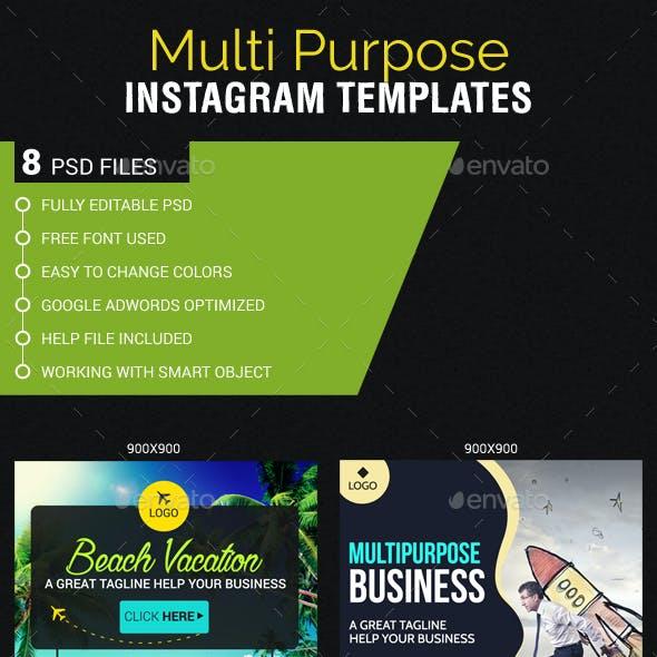 Multipurpose Instagram Templates