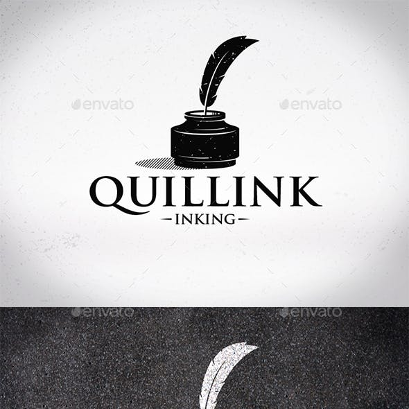 Quill Ink Logo Template